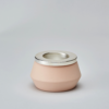 Tea Light-pink and silver