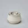 Tea Light- white and silver