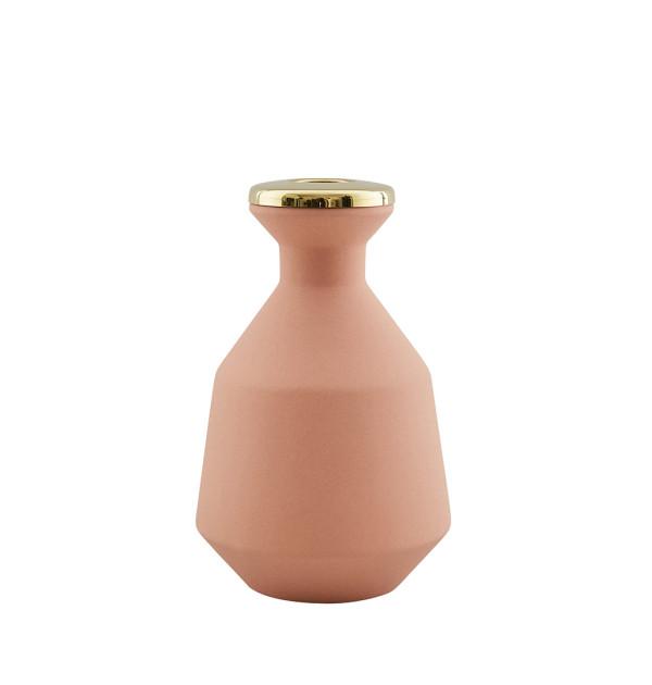 Hend_Krichen_Orange_Brass_Small_Vase