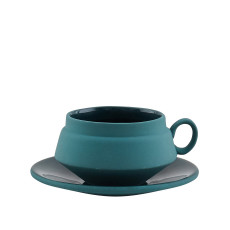 Hend Krichen-Green Cup and Saucer-£40